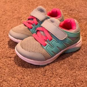 Other - Pink Blue Toddler Girl Size 7 Sneakers
